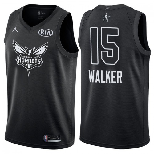 Hornets 15 Kemba Walker Black 2018 All-Star Game Swingman Jersey
