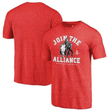 Houston Rockets Fanatics Branded Red Star Wars Alliance Tri-Blend T-Shirt