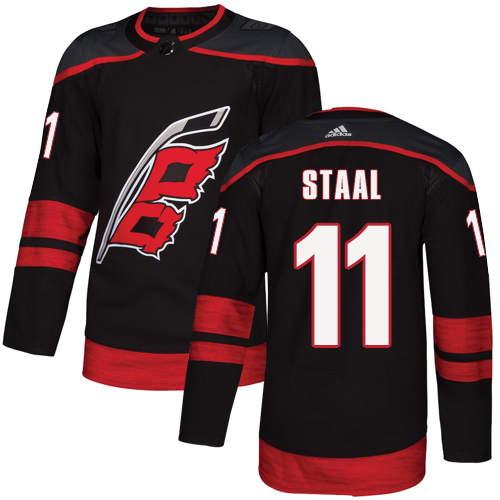 Hurricanes #11 Jordan Staal Black Alternate Authentic Stitched Hockey Jersey