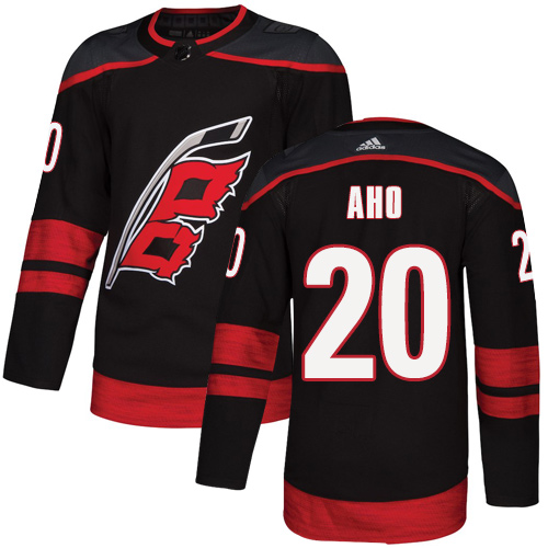 Hurricanes #20 Sebastian Aho Black Alternate Authentic Stitched Hockey Jersey
