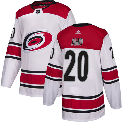 Hurricanes #20 Sebastian Aho White Road Authentic Stitched Hockey Jersey
