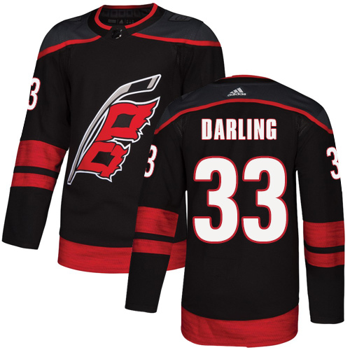 Hurricanes #33 Scott Darling Black Alternate Authentic Stitched Hockey Jersey
