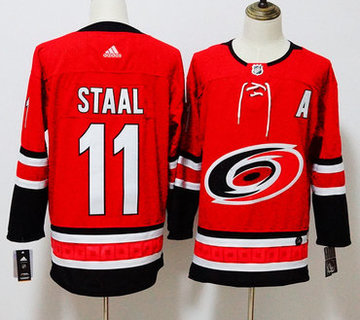 Hurricanes 11 Jordan Staal Red Adidas Jersey