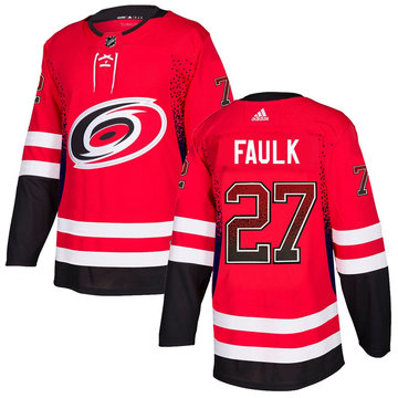 Hurricanes 27 Justin Faulk Red Drift Fashion Adidas Jersey