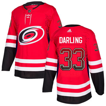 Hurricanes 33 Scott Darling Red Drift Fashion Adidas Jersey