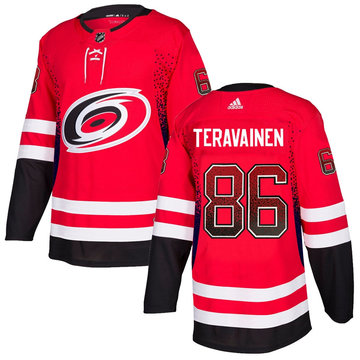 Hurricanes 86 Teuvo Teravainen Red Drift Fashion Adidas Jersey