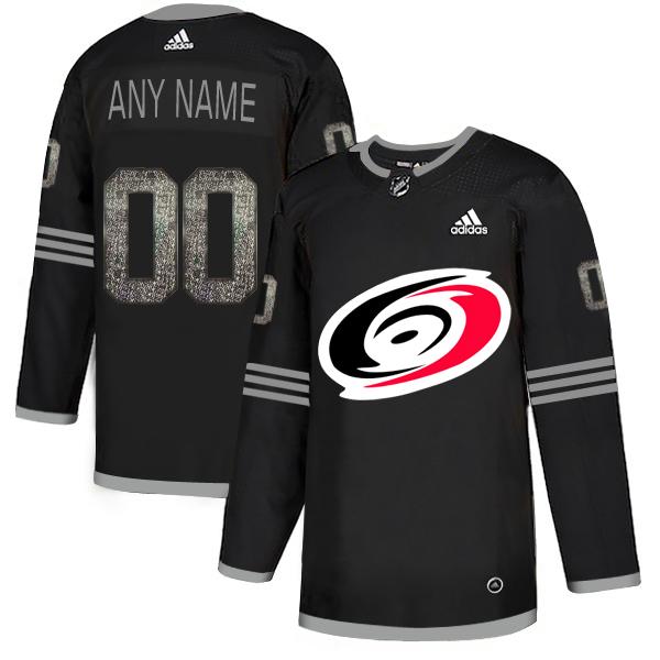 Hurricanes Black Shadow Logo Print Men's Customized Adidas Jersey
