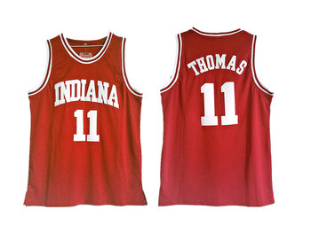 Indiana Hoosiers 11 Isiah Thomas Red College Basketball Jersey