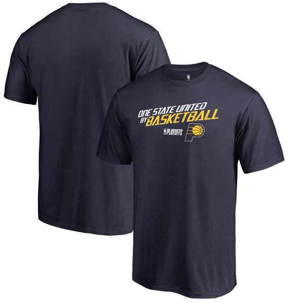 Indiana Pacers Fanatics Branded 2018 NBA Playoffs Slogan T-Shirt Navy