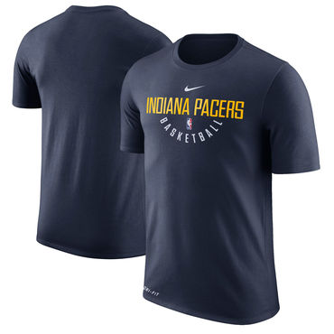 Indiana Pacers Navy Nike Practice Performance T-Shirt
