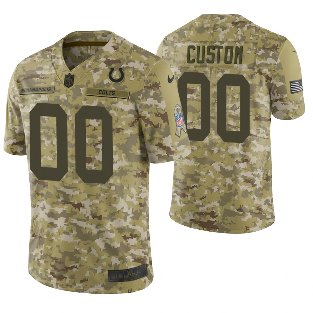 Indianapolis Colts Custom Camo 2018 Salute to Service Limited Jersey