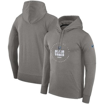 Indianapolis Colts Nike Sideline Property Of Wordmark Logo Performance Pullover Hoodie Charcoal