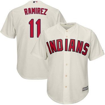 Indians #11 Jose Ramirez Cream New Cool Base Stitched Baseball Jersey