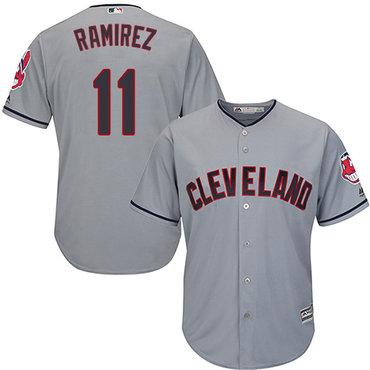 Indians #11 Jose Ramirez Grey New Cool Base Stitched Baseball Jersey