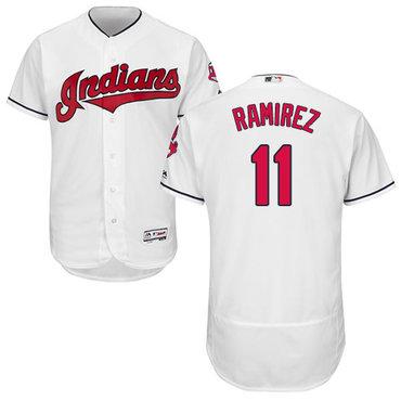Indians #11 Jose Ramirez White Flexbase Authentic Collection Stitched Baseball Jersey