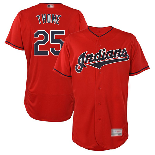 Indians #25 Jim Thome Red Flexbase Authentic Collection Stitched Baseball Jersey