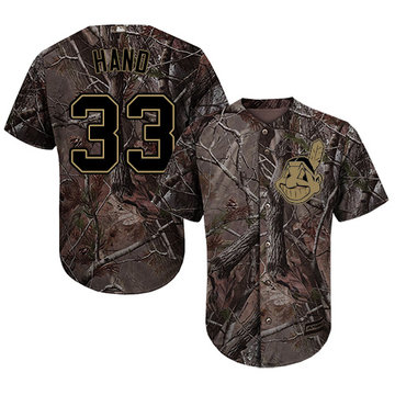 Indians #33 Brad Hand Camo Realtree Collection Cool Base Stitched Baseball Jersey