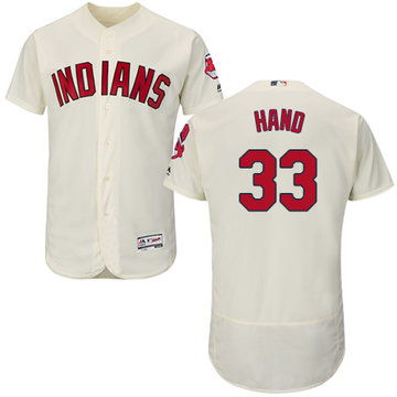 Indians #33 Brad Hand Cream Flexbase Authentic Collection Stitched Baseball Jersey