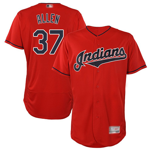 Indians #37 Cody Allen Red Flexbase Authentic Collection Stitched Baseball Jersey