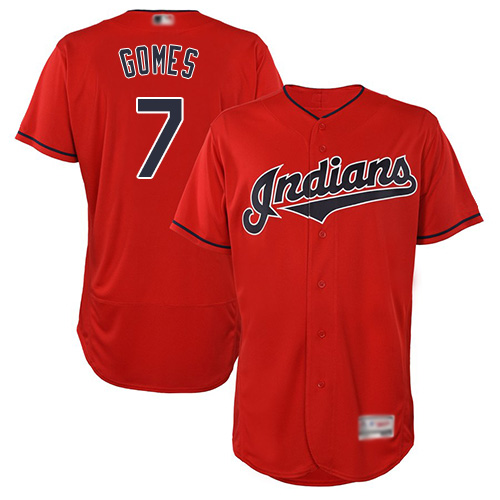 Indians #7 Yan Gomes Red Flexbase Authentic Collection Stitched Baseball Jersey