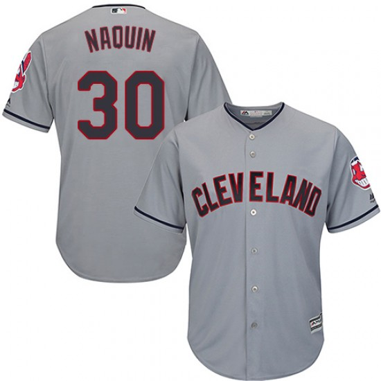 Indians 30 Tyler Naquin Gray Youth Cool Base Jersey