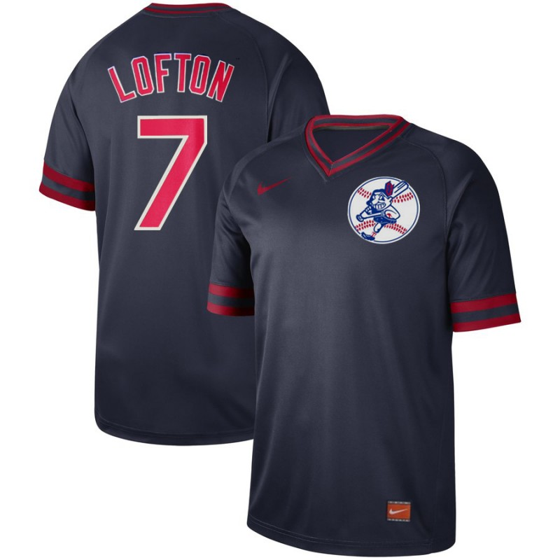 Indians 7 Kenny Lofton Black Throwback Jersey