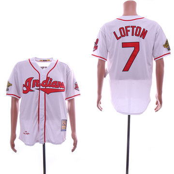 Indians 7 Kenny Lofton White Cooperstown Collection 1995 Throwback Jersey