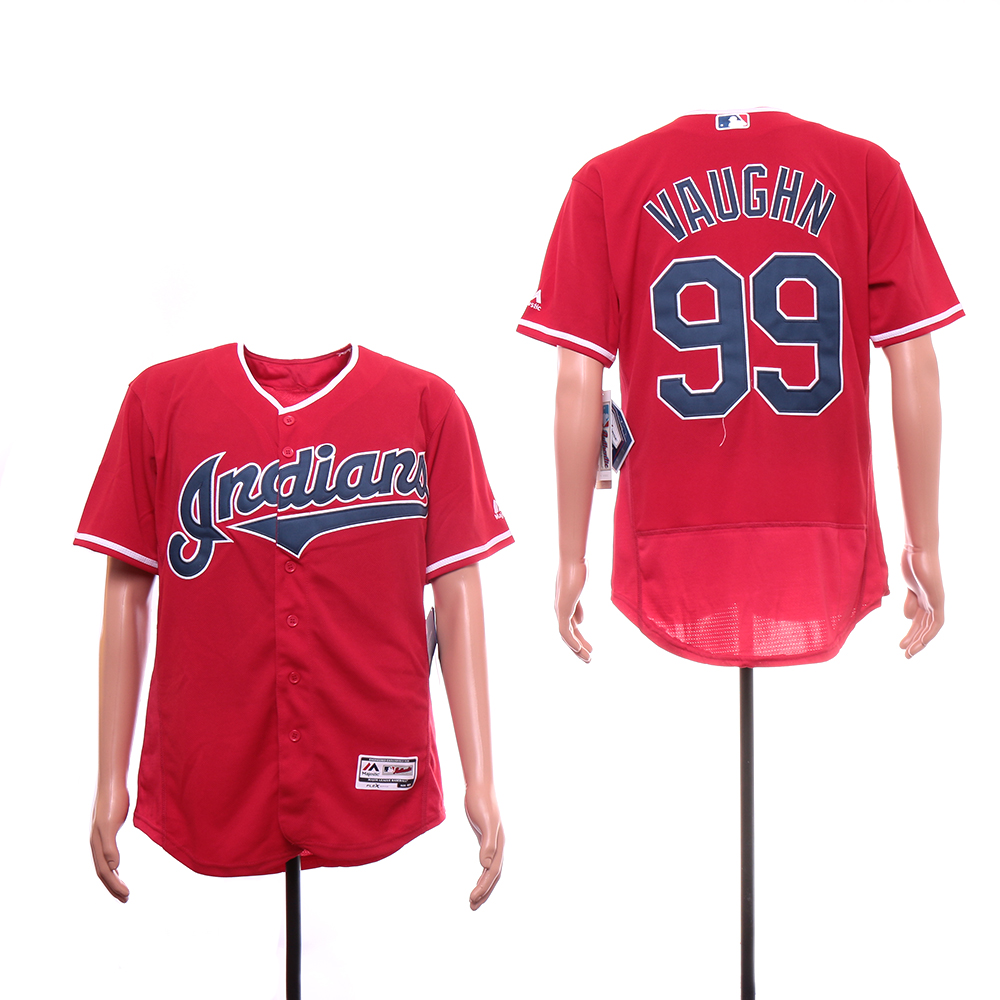 Indians 99 Ricky Vaughn Navy Red Jersey