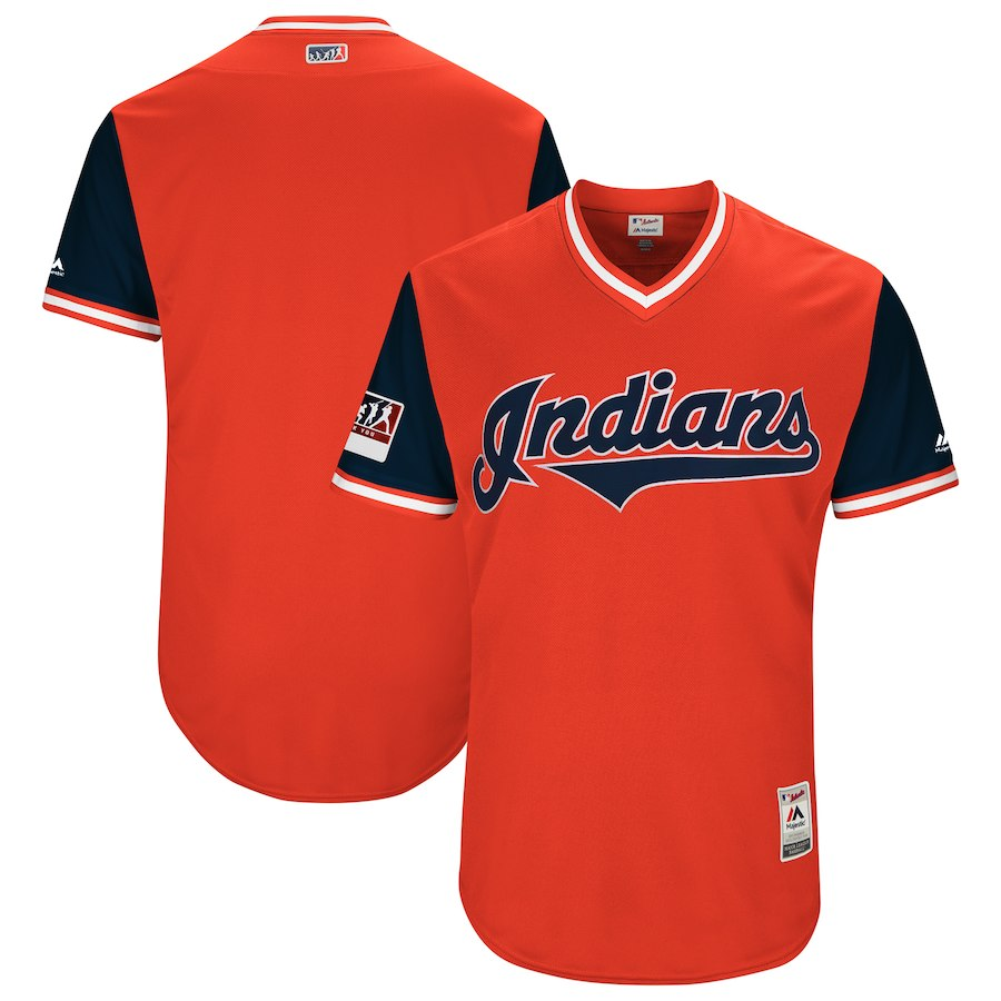 Indians Red 2018 Players' Weekend Authentic Team Jersey