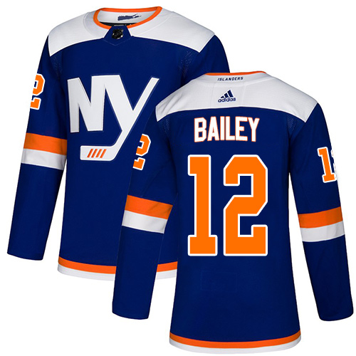 Islanders #12 Josh Bailey Blue Alternate Authentic Stitched Hockey Jersey