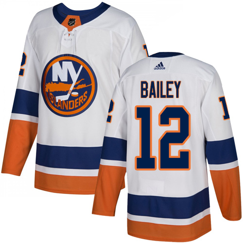 Islanders #12 Josh Bailey White Road Authentic Stitched Hockey Jersey