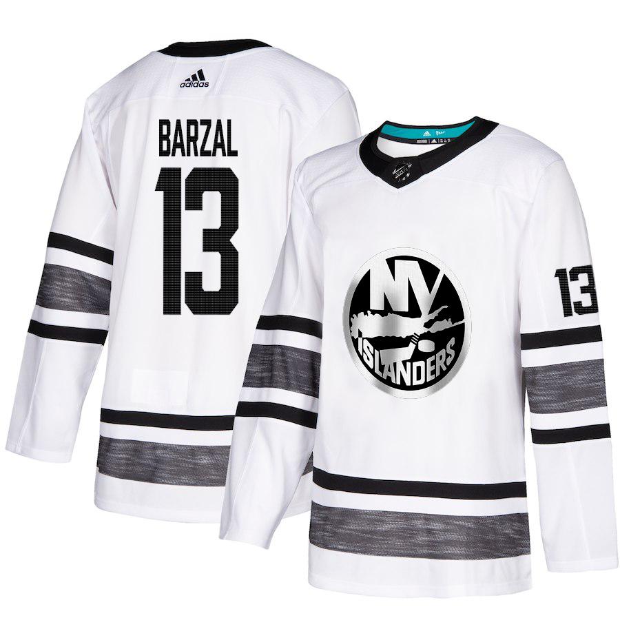 Islanders #13 Mathew Barzal White Authentic 2019 All-Star Stitched Hockey Jersey