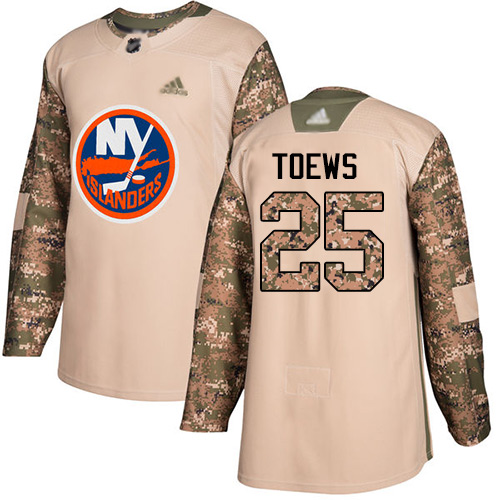Islanders #25 Devon Toews Camo Authentic 2017 Veterans Day Stitched Hockey Jersey