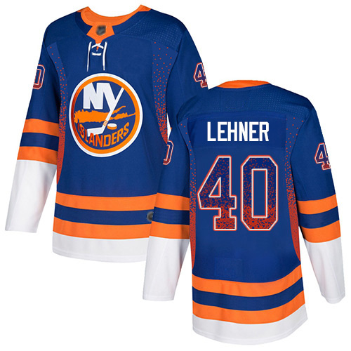 Islanders #40 Robin Lehner Royal Blue Home Authentic Drift Fashion Stitched Hockey Jersey