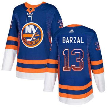 Islanders 13 Mathew Barzal Royal Drift Fashion Adidas Jersey