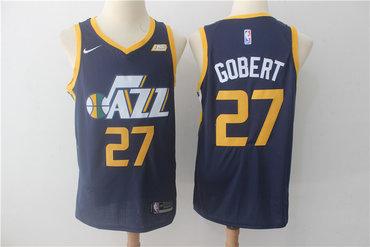 Jazz 27 Rudy Gobert Navy Nike Swingman Jersey