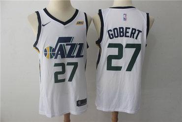 Jazz 27 Rudy Gobert White Nike Swingman Jersey