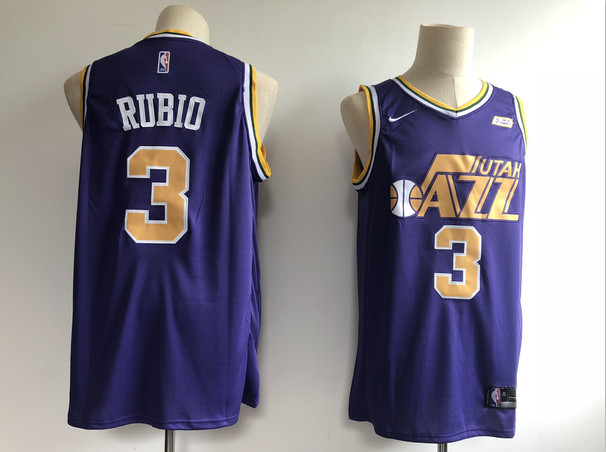 Jazz 3 Ricky Rubio Purple Nike Swingman Jersey