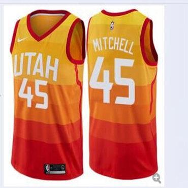 Jazz 45 Donovan Mitchell Multi-Color City Edition Nike Swingman Jersey