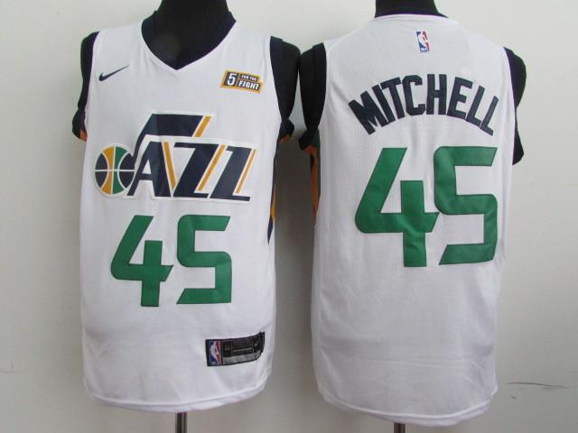 Jazz 45 Donovan Mitchell White Nike Swingman Jersey