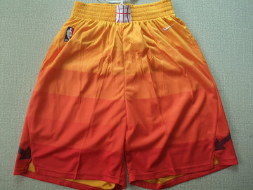 Jazz Orange Nike Swingman Shorts