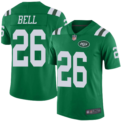 Jets #26 Le'Veon Bell Green Men's Stitched Football Limited Rush Jersey