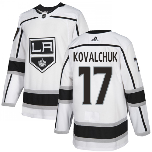 Kings #17 Ilya Kovalchuk White Road Authentic Stitched Hockey Jersey