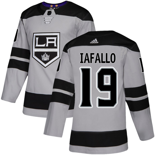 Kings #19 Alex Iafallo Gray Alternate Authentic Stitched Hockey Jersey