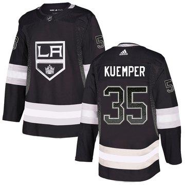Kings 15 Darcy Kuemper Black Drift Fashion Adidas Jersey