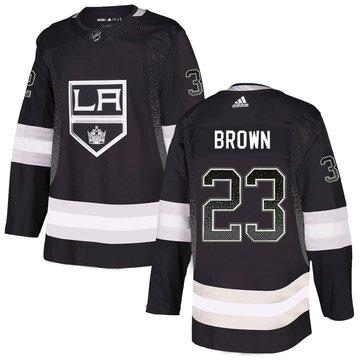Kings 23 Dustin Brown Black Drift Fashion Adidas Jersey
