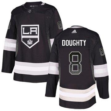 Kings 8 Drew Doughty Black Drift Fashion Adidas Jersey
