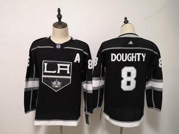 Kings 8 Drew Doughty Black Women Adidas Jersey