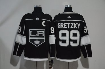 Kings 99 Wayne Gretzky Black Adidas Jersey