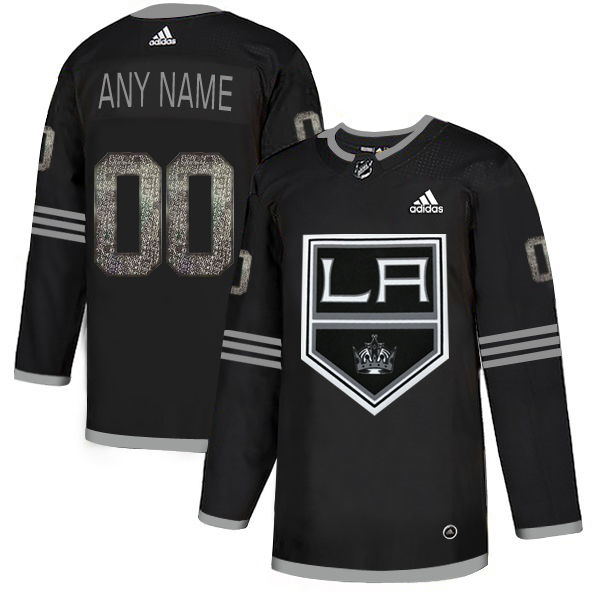 Kings Black Shadow Logo Print Men's Customized Adidas Jersey